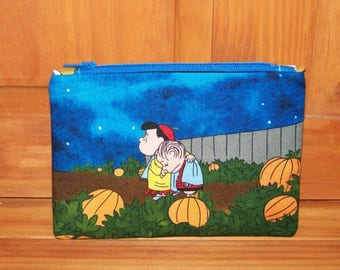 Halloween Peanuts Zippered Pouch