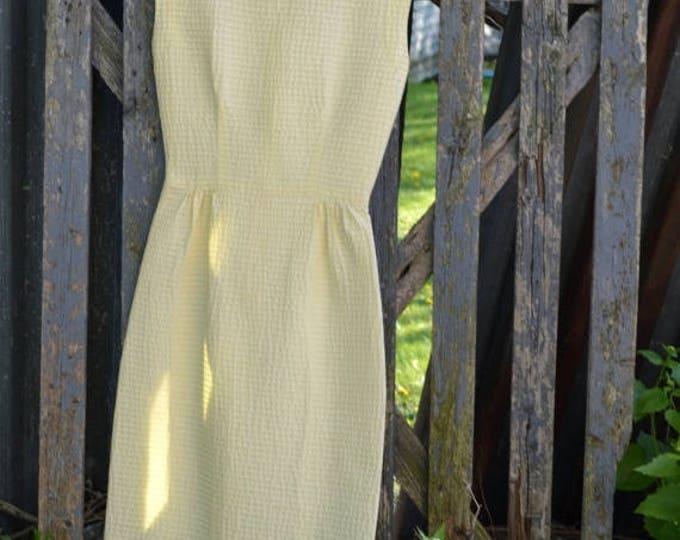sale Vintage Dress, Yellow Dress, Wiggle Dress, Pencil Dress, Pin Up Dress, 60s Dress, Preppy Dresses, Day Dress, Rockabilly Dress, Retro Dr