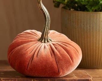 Scented Velvet Pumpkin, Harvest Orange