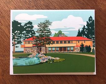Graycliff, Frank Lloyd Wright architecture, New York, card