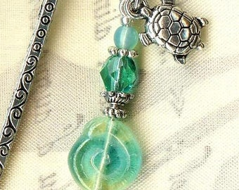 MINI bookmark in the waves ✿TORTUE MP164 ✿
