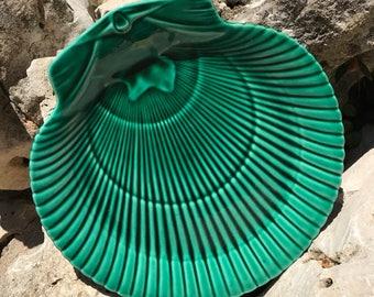 Wedgwood Majolica 1870 Shell Greenware Plate