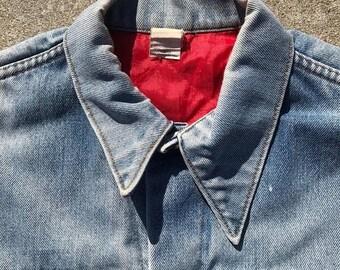 40% OFF The Vintage 1960s Worn Light Wash Denim Jean Jacket Size Large