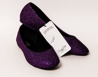 Ready 2 Ship - Size 9 Razzle Purple Ballet Flats Slippers Shoes
