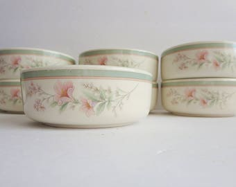 Vintage Noritake Soup Bowl - Cereal Bowl -  Noritake Deerfield Pattern 9159 Bowl - Keltcraft Misty Isle Collection- Soft pastel Flower Bowls