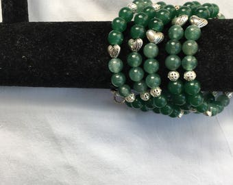 5 Coil Green Arm Candy Bracelet