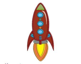Rocket Machine Embroidery Designs Applique,red rocket, rocket applique
