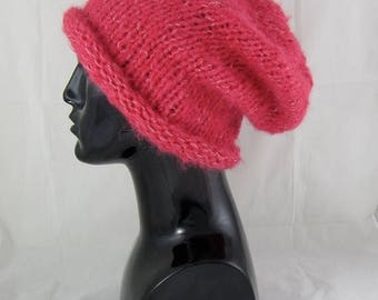 40% OFF SALE Digital pdf download knitting pattern-Simple Superfast Super Furry Slouch Hat pdf download knitting pattern