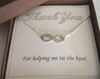 Bridesmaid bracelet, Infinity bracelet,Charm bracelet, Friendship bracelet, Maid of honor gift, Wedding gift, Gift for her, Women's jewelry