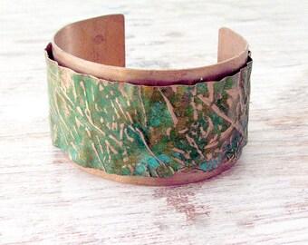 Womens Boho Cuff - Womens Bohemian Cuff Bracelet - Womens Hammered Cuff Bracelet - Boho Cuff - Womens Copper Jewelry - Hammered Copper Cuff