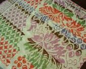 Antique Late 1800 Woven Cotton Coverlet Piece ~ Lancaster County PA