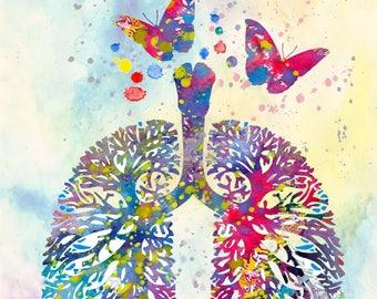 BREATH art AIR breath of the wild art print wall decor zelda artwork breath anatomy medicine child art