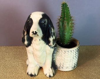 Vintage Planter - Vintage Dog Planter - Ceramic Planter - Chalk Planter - Vintage Homeware - Plant Pot - Vintage Plant Holder