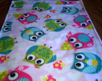 Owls Baby Blanket 39 x 29 inches