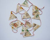 Vintage Christmas Paper Garland