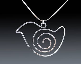 Silver Baby Bird Necklace