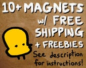 """10+ magnets with free shipping - see description for info on how to use. magnet set lot of 1.25"""" round refrigerator magnets"""