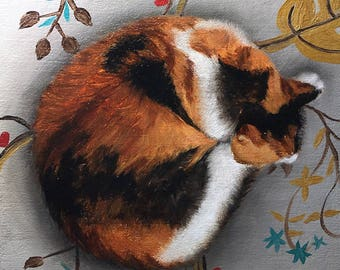 Custom Painting of Your Cat, Dog, or Any Critter of Your Choice - Original Cat Painting by Nancy Cuevas - LIttle Kitty Paintings