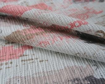 ABSTACT barkcloth, vintage fabric, 1950s barkcloth, 3 panels, retro upholstery,  mid century fabric, MCM barkcloth, warm colours,