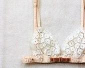 White Flower Lace Bra/style SHIBAZAKURA (S/M)