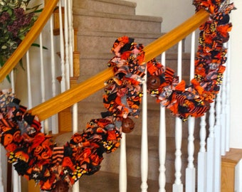 7 feet long Halloween Garland with ornaments, Party decoration,Halloween decoration