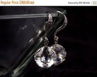 ON SALE Bridal Earrings Set of 8 Crystal and Rhinestone Wedding Earrings Margot