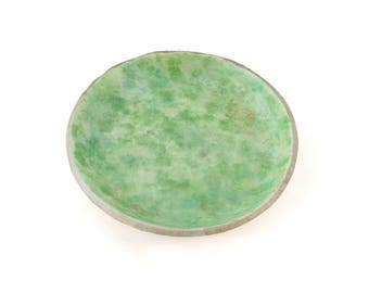 Green Ring Dish - Trinket Tray - Jewelry Storage - Ring Organizer - Decorative Tray, Jewelry Holder, Gifts for Her, Gifts for Home