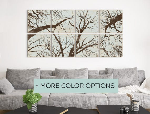 Large Custom Forest Print Collection - Nature Wall Art Home Decor in Custom Colors