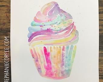 GRAB BAG Originals - Watercolor Cupcake