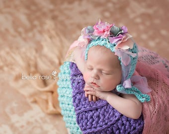 Crown Flower Headband Baby Girl Photography Prop Photo Newborn Tieback Handmade Spring Tiara Toddler Headpiece Wedding Halo HeadWrap