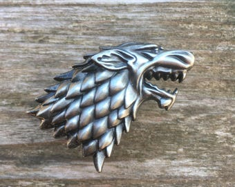 Game of Thrones Drawer Knobs - Direwolf Cabinet Knobs - Furniture Knobs Pewter (MK159)