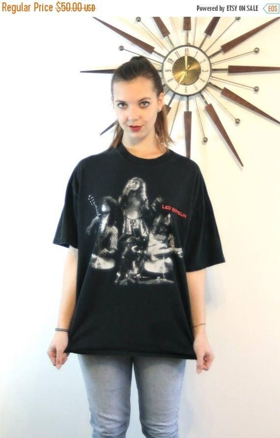 SALE 50% OFF Vintage LED Zeppelin t-shirt 90s Rock n Roll Black Concert Tshirt Unisex Mens Xl Womens Xxl Plus Size