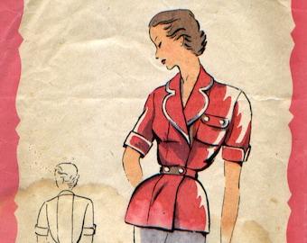 "Vintage Safari jacket, ""Patterns by Claire Elegance of Paris"" pattern"