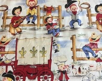 Cowpoke fabric remnant