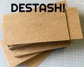 "DESTASH SALE ... 300 Kraft Chipboard Cards 2.5"" x 5"" Liquidation Sale Lightweight Wholesale Price Blank Cards DIY Etsy Seller Supplies"