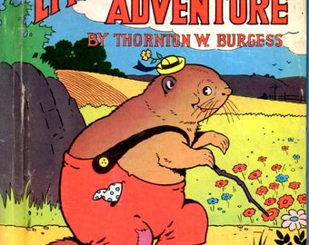 Little Chuck's Adventure Woodchuck Old Mr. Toad Hens Rooster Barnyard Children's Book by Thornton W. Burgess Harrison Cady Illustrator