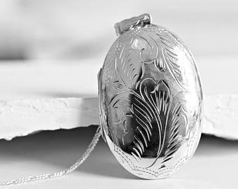 925 Silver Locket Necklace