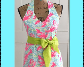 Lilly Pulitzer inspired apron Lobstah Roll