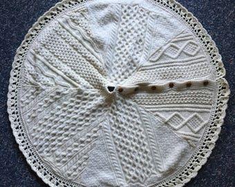 Irish Wool Cable-Knit Sweater Treeskirt