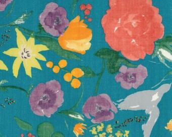 Nani Iro Japanese Textiles - DOUBLE GAUZE Fuccra Rakuen in Teal