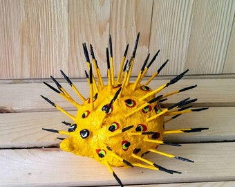 Recycle Art Hedgehog/Porcupine 4 - 6 inches