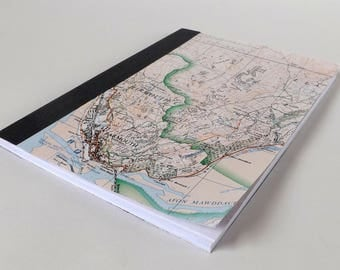 Snowdonia (Dolgellau) Map 1984 #2 - Barmouth - Recycled Vintage Map Handbound Notebook with Upcycled Blank Pages