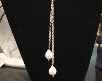 Versatile Sterling Chain And Pearl Necklace