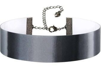 Adjustable Black White Gray Hologram 3D Lenticular Choker Necklace
