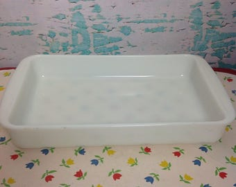 Vintage Pyrex opal white 232 rectangle casserole baking dish Cooking Baking kitchenChef. Cook Food storage