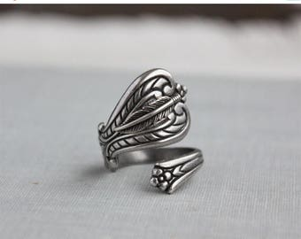 VACATION SALE- Feather Spoon Ring
