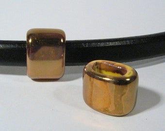 Regaliz 15mm Yellow-Orange-Green Ceramic Beads - CR15-10