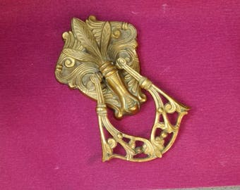 brass french large door knocker fleur de lis