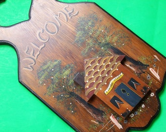 Hand Painted General Store Wooden Welcome Sign