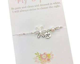 LDS Baptism gift, CTR bracelet, its great to be eight, baptism present, baptism preview gift,